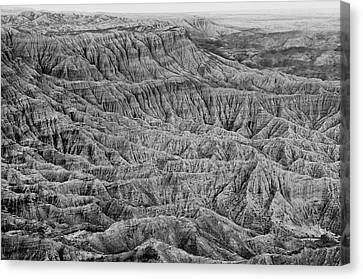 Canvas Print featuring the photograph Badlands Of Great American Southwest - 3 by Photography  By Sai