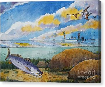 Catching Speckled Trout  Canvas Print