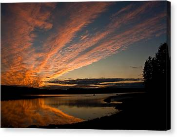 Bagaduce Sunset Canvas Print by Greg DeBeck