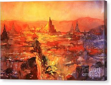 Bagan Ruins Canvas Print by Ryan Fox