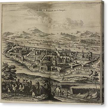 Baghdad And Surrounding Landscape Canvas Print by British Library
