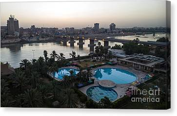 Baghdad At Sunset Canvas Print by Rasoul Ali