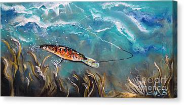 Bagley's Deep Dive Canvas Print by Chad Berglund