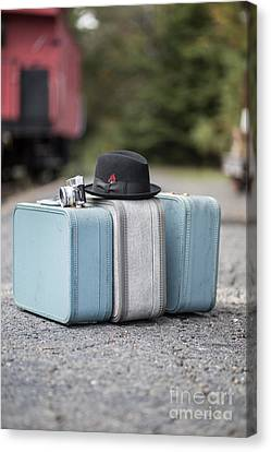 Bags All Packed Ready To Go Canvas Print by Edward Fielding