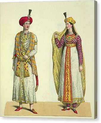Bahadour Shah And Suria Banu Canvas Print by British Library