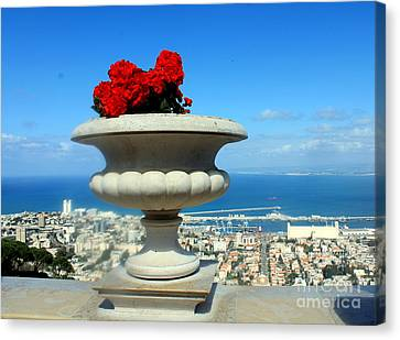 Canvas Print featuring the photograph Bahai's Garden - Haifa by Jason Sentuf