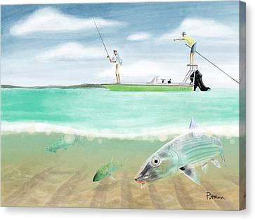 Bahama Bones Canvas Print by Kevin Putman