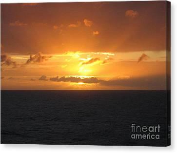 Canvas Print featuring the photograph Bahamas Ocean Sunset by John Telfer