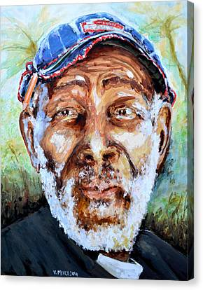 Bahamian Old Man Canvas Print by Victor Minca