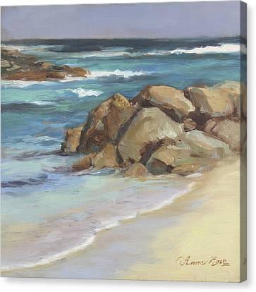 Sandy Beach Canvas Print - Bahamian Shoreline by Anna Rose Bain