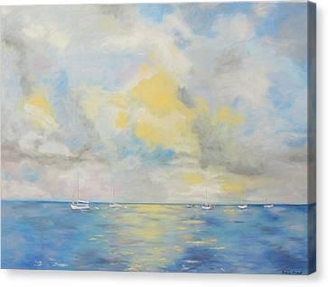 Bahamian Skies Canvas Print by Barbara Anna Knauf