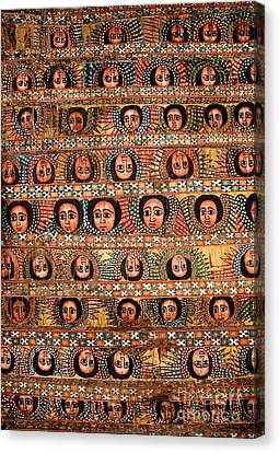 Bahar Bahir Dar Ethiopia Bright Colour Painted Church Ceiling Canvas Print