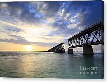 Bahia Honda Old Bridge Canvas Print by Eyzen M Kim