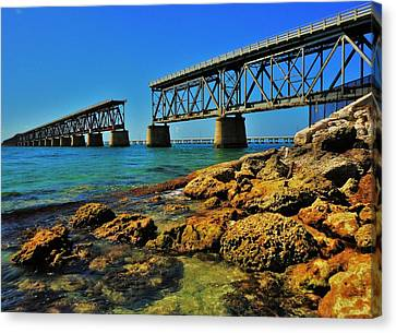 Bahia Honda Rail Bridge Canvas Print by Benjamin Yeager