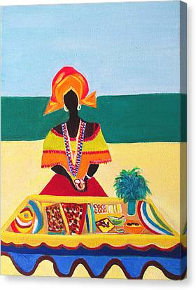 Baiana De Acaraje Canvas Print by Fatima Neumann