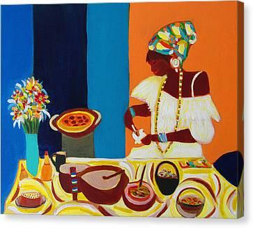Baiana De Acaraje II Canvas Print by Fatima Neumann