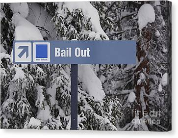 Bail Out Canvas Print by Chris Selby