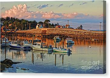 Bailey Island Bridge At Sunset Canvas Print