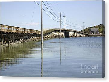 Bailey Island Bridge - Harpswell Maine Usa Canvas Print by Erin Paul Donovan