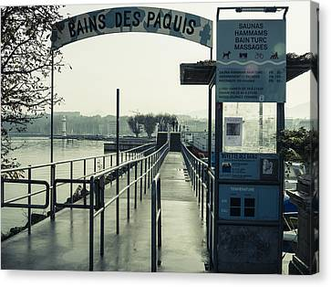 Canvas Print featuring the photograph Bains Des Paquis by Muhie Kanawati