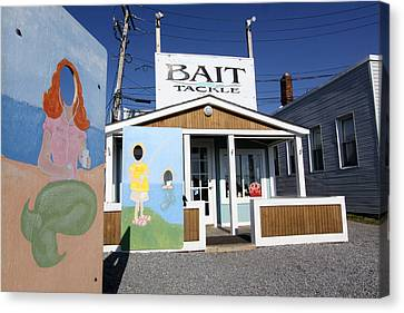 Bait And Tackle Greenport New York Canvas Print by Bob Savage