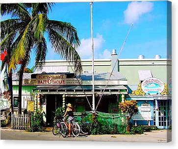 Bait And Tackle Key West Canvas Print by Iconic Images Art Gallery David Pucciarelli