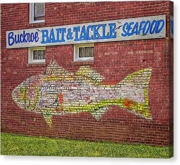 Bait Tackle Seafood Shop Detail Canvas Print