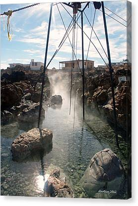 Canvas Print featuring the photograph Baja Hot Springs by Dick Botkin