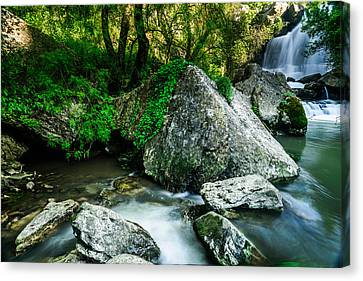 Branch Hill Pond Canvas Print - Bajouca Waterfall by Marco Oliveira