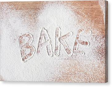 Bake Text Canvas Print