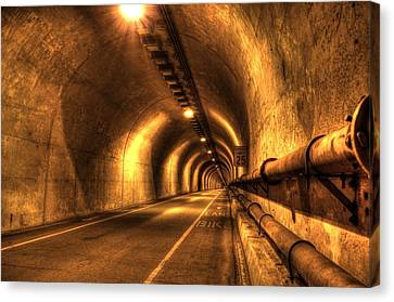 Baker Barry Tunnel Canvas Print by Mike Ronnebeck