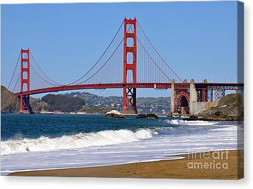 Baker Beach Canvas Print by Gina Savage