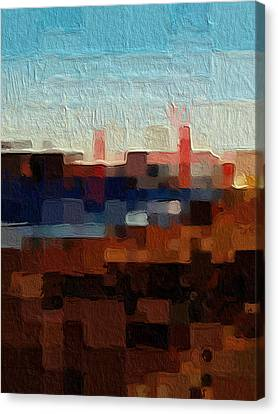 Abstract Art Canvas Print - Baker Beach by Linda Woods