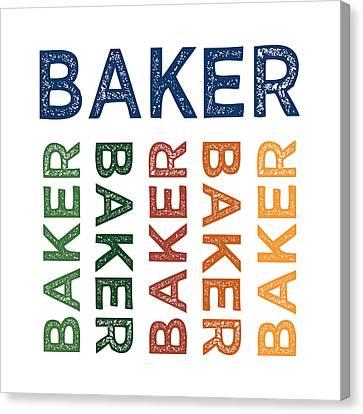 Baker Cute Colorful Canvas Print by Flo Karp