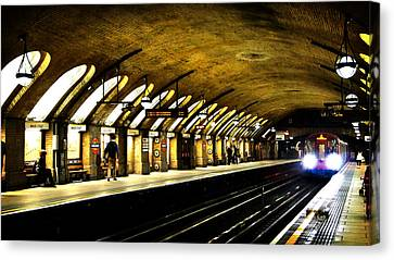 London Tube Canvas Print - Baker Street London Underground by Mark Rogan
