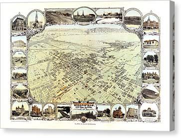 Bakersfield - California - 1901 Canvas Print by Pablo Romero
