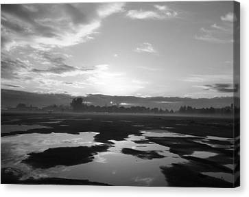 Canvas Print featuring the photograph Bakersfield In Black And White by Meghan at FireBonnet Art