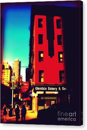 Canvas Print featuring the photograph The Bakery - New York City Street Scene by Miriam Danar