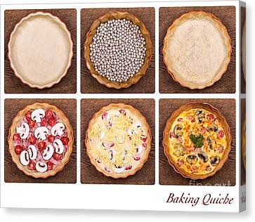 Baking Quiche Canvas Print