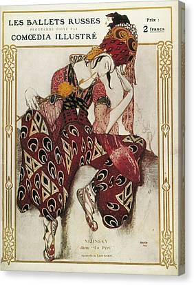 Bakst, L�on 1866-1924. La P�ri. 1911 Canvas Print by Everett
