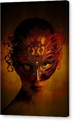 Canvas Print featuring the digital art Bal Masque by Galen Valle