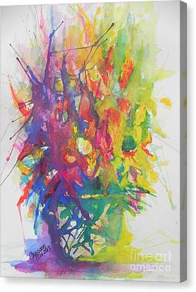 Balance Brings Happiness Canvas Print by Chrisann Ellis