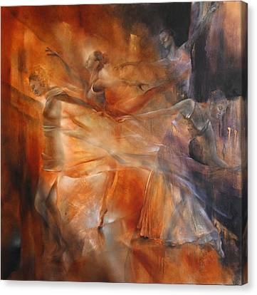 Balance - Four Dancers Canvas Print