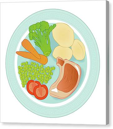 Balanced Meal Canvas Print by Jeanette Engqvist