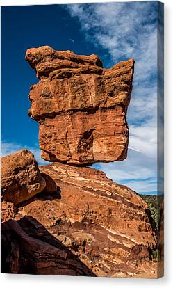 Balanced Rock Garden Of The Gods Canvas Print