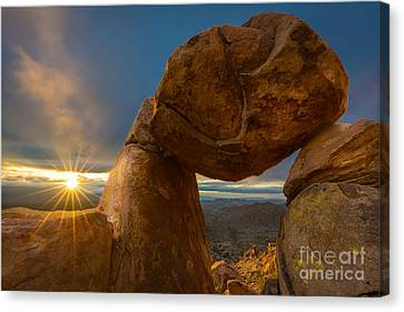 Balanced Rock Canvas Print by Inge Johnsson