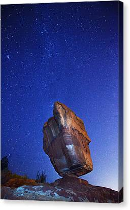 Balanced Rock Nights Canvas Print by Darren  White