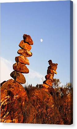 Balanced Rock Piles Canvas Print by Christine Till
