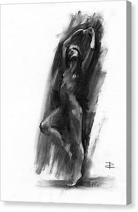 Canvas Print featuring the drawing A Dance Of Balance by Paul Davenport