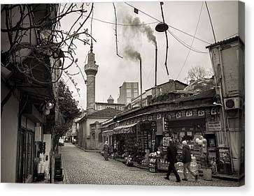 Balat Neighborhood In Istanbul Canvas Print by For Ninety One Days